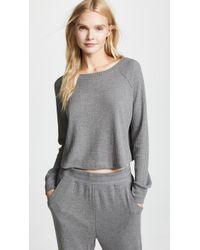 Honeydew Intimates - Sneak Peek Waffle Knit Crop Sweatshirt - Lyst