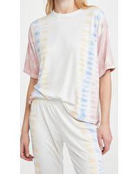 Pj Salvage Sunset Hues Short Sleeve T-shirt - White