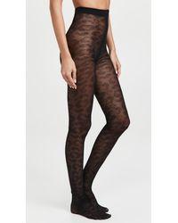 Ganni Lace Tights - Black
