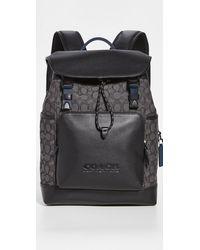 COACH League Flap Backpack - Black