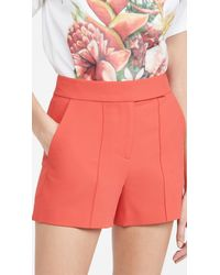 Alice + Olivia Dylan High Waist Tab Pintuck Shorts - Multicolour