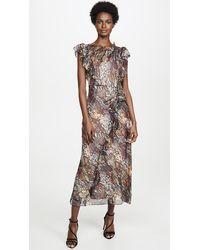 Rebecca Taylor Snake Ruffle Dress - Multicolour