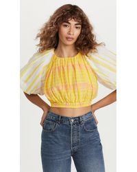 Aje. Wilderness Cropped Top - Yellow