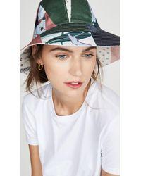 Tory Burch Floral Patchwork Hat - Multicolour