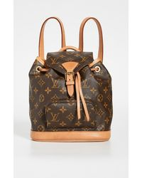 What Goes Around Comes Around Lv Monogram Montsouris Backpack - Brown