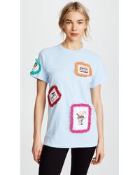 Michaela Buerger - Patch Tee With Trim - Lyst