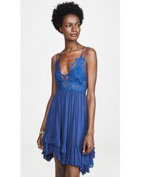 Free People Adella Slip Dress - Blue