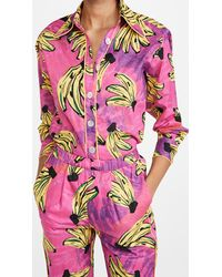 FARM Rio Tie Dye Bananas Pyjama Shirt - Pink