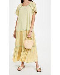 Free People Sun Fade Midi Dress - Yellow