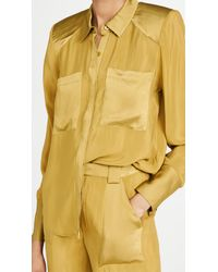 GOOD AMERICAN Strong Shoulder Shirt - Yellow