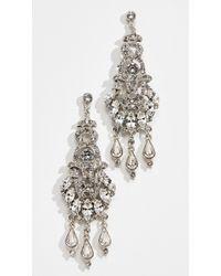 Ben-Amun - Ornate Crystal Drop Post Chandelier Earrings - Lyst