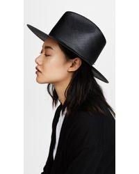 Lyst - Janessa Leone Zinnia Bolero Hat in Brown 1e86c74d896d