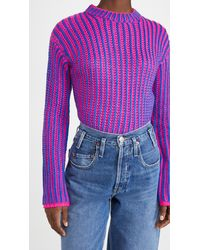 Endless Rose Variegated Crew Neck Pullover - Multicolour