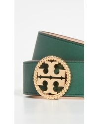 Tory Burch Twisted Logo Belt - Green