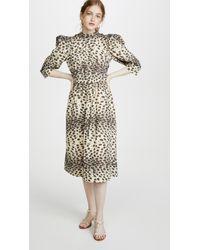 Sea Leo Corded Midi Dress - Natural