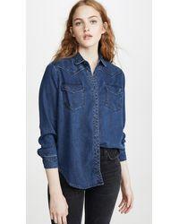 Rails Renee Button Down Shirt - Blue