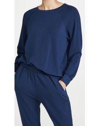 Eberjey Blair Ringer Sweatshirt - Blue
