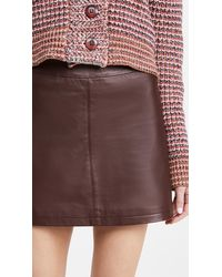 Cupcakes And Cashmere Marie Leather Skirt - Brown