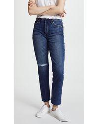 Joe's Jeans - The Kass Waistless Slim Straight Ankle Jeans - Lyst