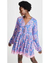 Tiare Hawaii Dahlia Swing Dress - Blue