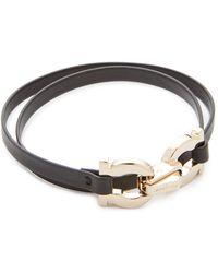 Ferragamo | Double Gancio Wrap Bracelet | Lyst