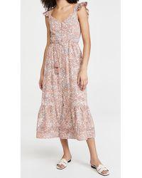 Cleobella Sophia Midi Dress - Pink