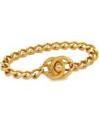 What Goes Around Comes Around Chanel Small Turn Lock Bracelet (previously Owned) - Metallic
