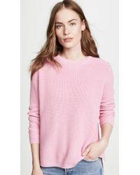525 America Shaker Crew Sweater - Pink