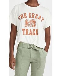 The Great The Crop Tee With Ram Graphic - White