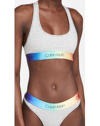 Calvin Klein Modern Cotton Pride Unlined Bralette - Grey