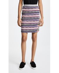 Carven - High-waisted Knit Skirt - Lyst