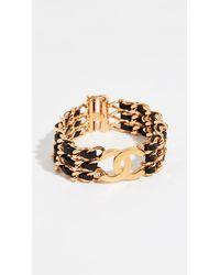 Chanel Leather Bracelet - Metallic
