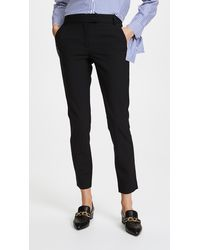 Veronica Beard Slim Cigarette Trousers - Black