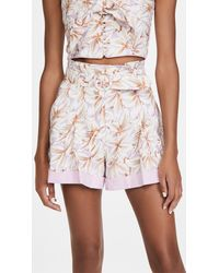Jonathan Simkhai Lillian Floral Linen Shorts - Multicolour