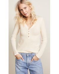 Elizabeth and James - Ester Waffle Top - Lyst