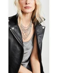 Rebecca Minkoff - Crystal & Chain Drama Necklace - Lyst