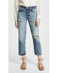 Free People - Extreme Washed Boyfriend Jeans - Lyst