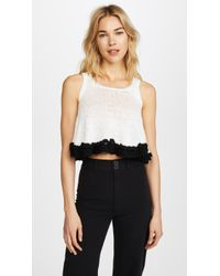 Apiece Apart | Cream With Black Seri Crochet Swing Tank | Lyst