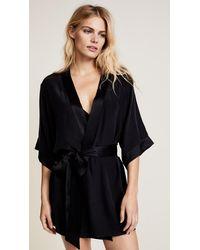 Kiki de Montparnasse Silk Robe - Black