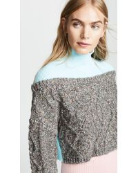 Opening Ceremony - Cable Turtleneck Sweater - Lyst
