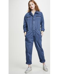 Current/Elliott The Penny Coveralls - Blue
