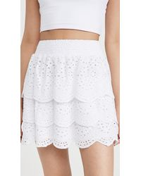 BB Dakota Lost In Your Eyelet Skirt - White