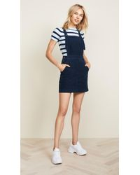 AG Jeans - Jacs Corduroy Overall Pinafore Dress - Lyst