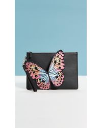 Sophia Webster Flossy Butterfly Embroidery Pouchette - Black