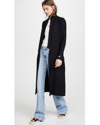 SOIA & KYO Annabella Straight Fit Maxi Length Coatigan - Black