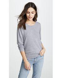 Monrow Crew Neck Sweatshirt - Grey