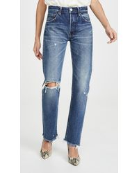 Moussy Guilford Straight Jeans - Blue