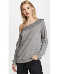Lanston - Off Shoulder Sweatshirt - Lyst