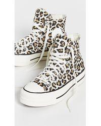 Converse Chuck Taylor All Star Leopard Platform High Top Sneakers - Multicolor
