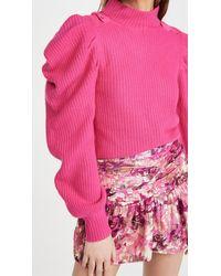 LoveShackFancy Potter Cashmere Pullover - Pink